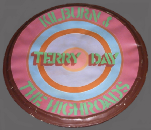 Kilburn & the Highroads Bass Drum Skin Painted by Ian Dury