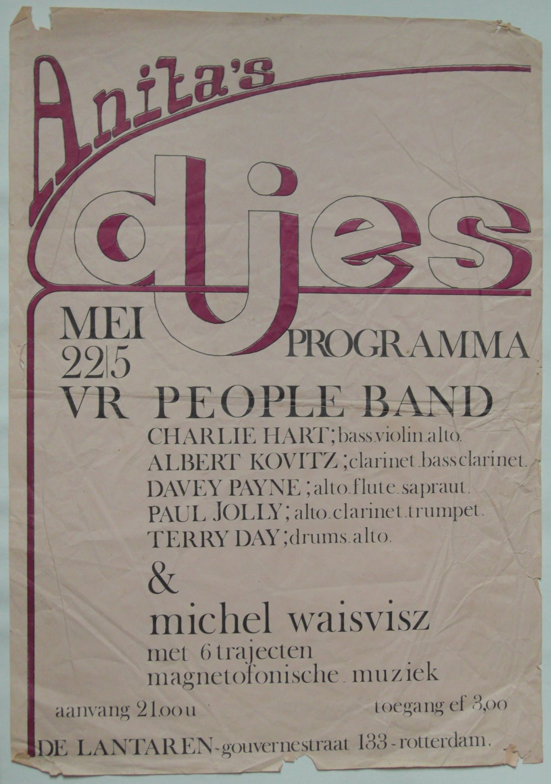 PEOPLE BAND POSTER circa 1967